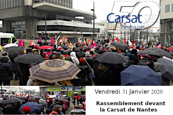 Carsat Calendrier 2021 LA CARSAT DE NANTES EN GREVE   Union Départementale FO 53   Mayenne